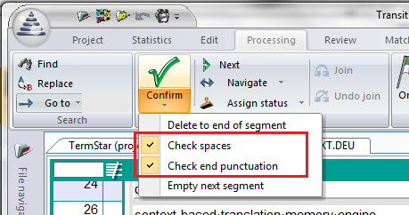 Check final punctuation and spacing when confirming