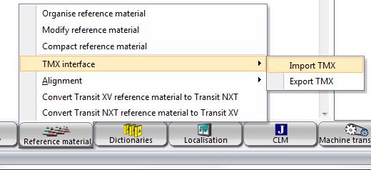 Launch the TMX conversion utility