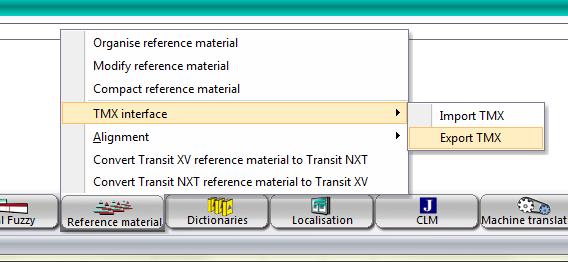 Create TMX file dialog