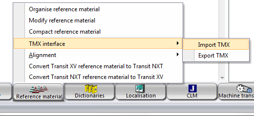 Converting TMX to a Transit NXT language pair