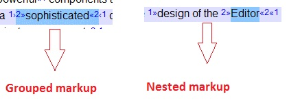 Grouped and nested markups