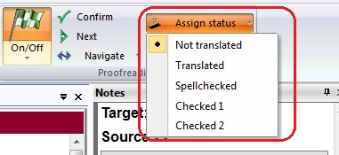 Assign status to a segment