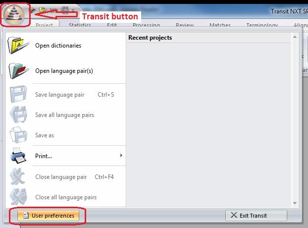 Transit button